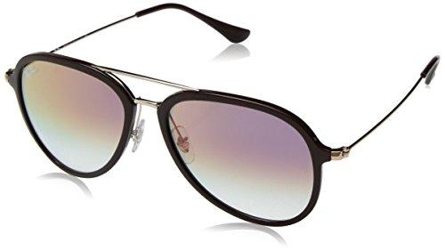 Ray-Ban Unisex-Erwachsene 0RB4298 6335S5 57 Sonnenbrille, Choccolate/Cleargradientviolet