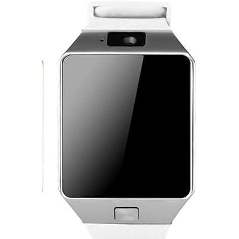 Smartwatch Teléfonos móviles de Bluetooth de DZ09 puede llamar a kaanzhuo enchufe impermeable reloj de pulsera inteligente , white