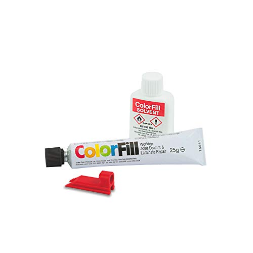 Reparatur-verbindung (Unika BP145-AZ Colorfill Dichtstoff/Reparatur und Lösungsmittel für Verbindungen von Arbeitsplatten, Schwarzes Granit)