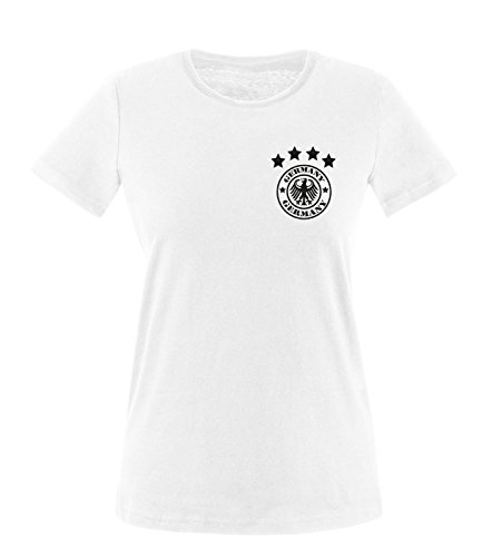 Luckja EM 2016 Deutschland Trikot Wunschname und Wunschnummer Motiv 14 Damen T-Shirt