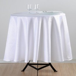 LOVELY CASA N127087002 Totema Nappe Coton Blanc 180 x 180 cm