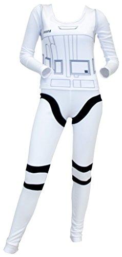 Kostüm Stormtrooper Star Wars Womens - Star Wars Stormtrooper Top and Pants Costume Set (Women's X-Large)