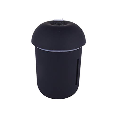VORCOOL Humidificador de Aire difusor Mini humidificador de la Niebla Luces portátiles de la Seta para el hogar Oficina Escritorio Negro