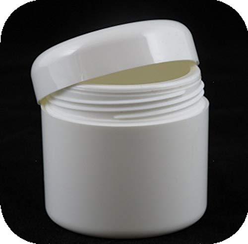 5 Pots vides PET- double paroi blanc - MyCosmetik - 50 ml