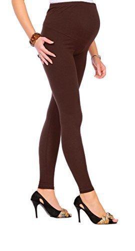 Futuro Fashion - Leggings para embarazadas (algodón, todas las tallas) marrón marrón 42