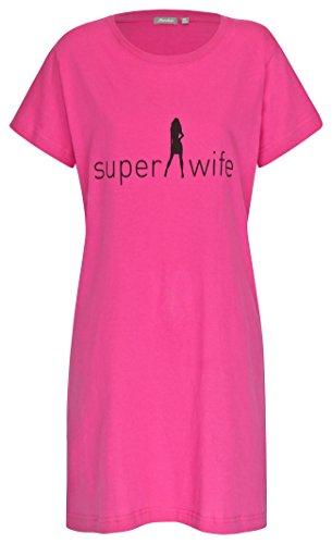 Damen Nachthemd Beliza Pink Gr. L 44-46