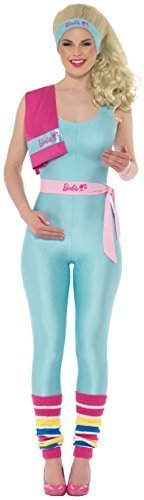Fancy Me Damen Workout Barbie-Puppe Offizielles Retro TV Buch Film Traumhaus Hen Night Party Spaß Comedy Kostüm Outfit - UK 8-10