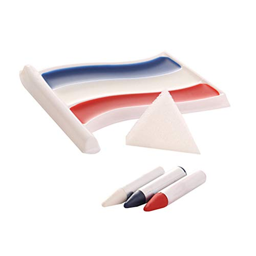BESTOYARD Nationalflagge Gesichtsfarben Kits ungiftig Körperbemalung Pigment Crayon -