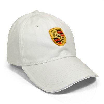 Porsche Crest Logo White Cap