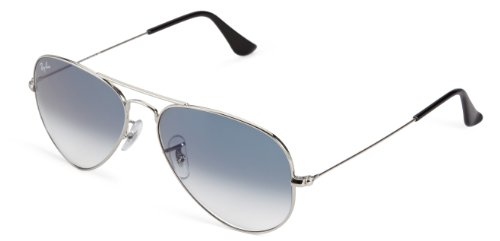 Ray-ban rb3025 aviator occhiali da sole unisex adulto, argento (silber 003/3f), 55 mm