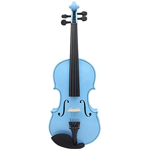 Violini Strumenti a Corda Blue Fiddles Basswood Europeo Strumento a Corde in Legno massello Accessori Completi (Color : Blue, Size : 4/4)