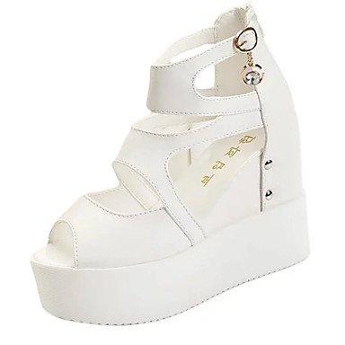 Sandali Primavera Estate Autunno Slingback Club scarpe cinturino alla caviglia PU outdoor casual Tacco a cuneo Satin Flower Lace-fino a Piedi White