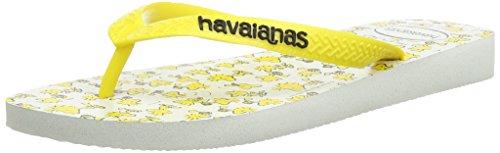 Havaianas Snoopy, Infradito Unisex-adulto, Giallo (White/Citrus Yellow), 43/44 BR (45/46 EU)