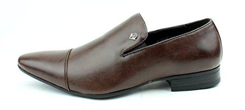 Hommes A Enfiler Mocassins Habillés Style Italien Chaussures Allure Cuir UK 6-11 Marron