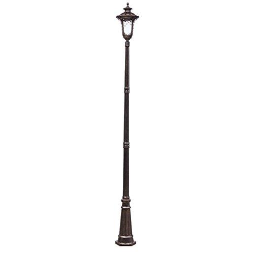 3 Säule Stehlampe (Straßenlaterne Garten Licht Wasserdichte Aluminium Säule Lampe Villa Garten Durchgang Quadrat Rasen Lichter 3 mt Hoch Wegeleuchten)