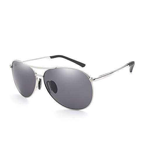 Driving Frog Mirror Glasses Polarized Herren Damen Pilot Metall Sonnenbrille Brille (Color : 01Gray, Size : Kostenlos)