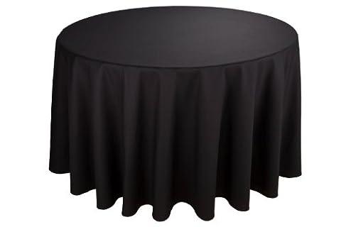 Riegel PREMIER 100Prozent Polyester 120-inch Tischdecke rund, schwarz (Schwarz Premier Tischdecken)