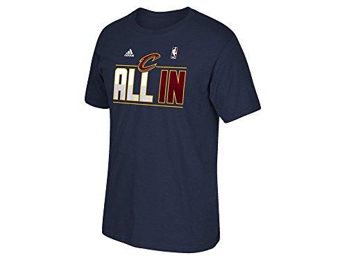 Cleveland Cavaliers Marineblau Adidas Playoff alle in Slogan T-Shirt, Herren damen Kinder, navy