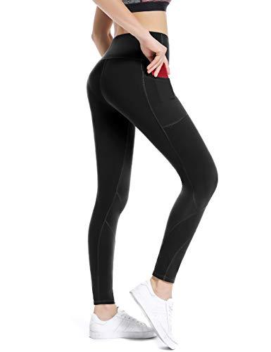 3391726ae36a9c ALONG FIT Sport Leggings mit Taschen Damen Sporthose Yogahose Fitnesshose  Yoga Leggings für Damen