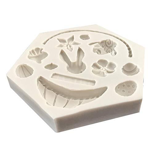 cineman Silikon Formen Silicone Mold Schokoladenform, 3D Blume Korb Silikonform Kuchen, Schokoladenform Backen Werkzeug, Fondant Dekoration Osterhase Ei Form (Schokoladenform Korb)