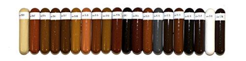 Schellack in Leser Marke Bao–Serie A (-weiß auf schwarz)–Box mit 20Stück