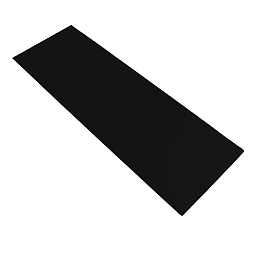 Ultrasport Esterilla de Fitness para Ejercicios - Esterilla de Yoga Antideslizante - Alfombra de Pilates Gruesa y Plegable de 180 x 66 x 0.5 cm, Negro
