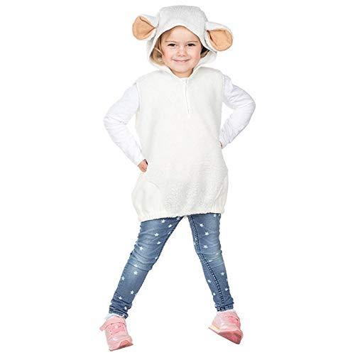 PARTY DISCOUNT® Kinder-Kostüm Schaf Überwurf, Einheitsgröße (Schaf Kostüm Kinder)