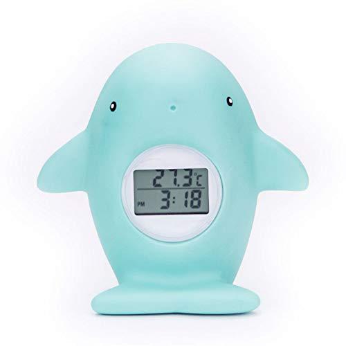 XQxiqi689sy Haustier Cartoon-Wal, digital, elektronisch, Timing-Licht, Alarm für Baby-Badewanne, Wasserthermometer Einheitsgröße einfarbig -