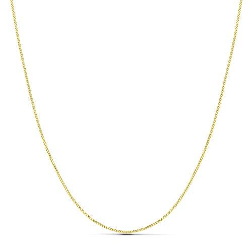 18k Goldkette solide chinrest 45 cm. 1 mm. 2,75 g. [9487]