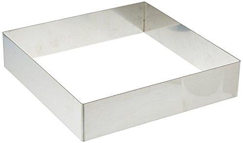 DECORA 0063795 Quadrato Inox, 18 x 18 x 4.5 cm, Acciaio Inossidabile, Argento