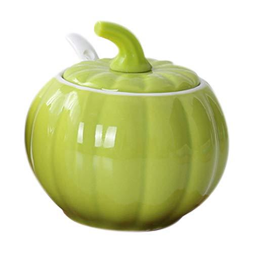 Koala Superstore Agitatore di sale cucina creativo in ceramica a forma di zucca, verde