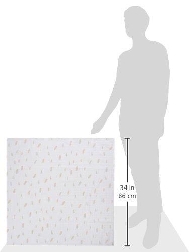 GLOOP. Lange Chiffon-Baumwolle Federn 100x 100cm