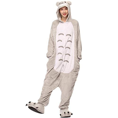 Fancyland Stitch Kostüm,Jumpsuit Tier Cartoon Fasching Halloween Kostüm-Anzug Onesie Fleece-Overall Pyjama