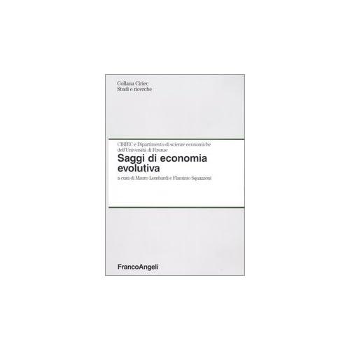Saggi Di Economia Evolutiva