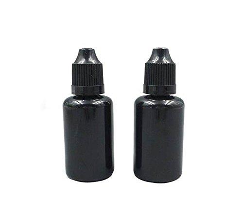 30 ml schwarz Pet Moke Öl Flasche Plastik Flaschen Dropper Eye DROP Flasche Wallende Flaschen mit kindersichere Gap (12 PCS) - Amber Glass Drop