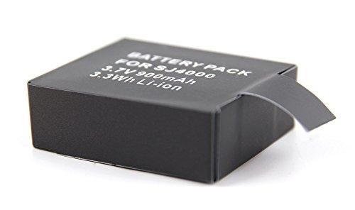 Batterie de rechange pour Excelvan TC-DV6, TC-Y8, TC-J6, TC-Q5, Q5, Q6 2.0 et Q8 4K 16MP Étanche 1080P 12MP H.264 WIFI - caméra embarquée - Li-ion 900mAH 3.7V 3.3Wh rechargeable - Garantie 2 ans - DURAGADGET