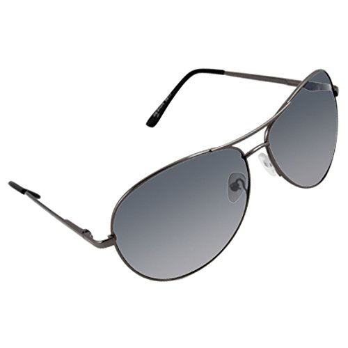 Dark Gray-Rahmen-Blau Fade Objektiv Doppel Brow Sonnenbrille