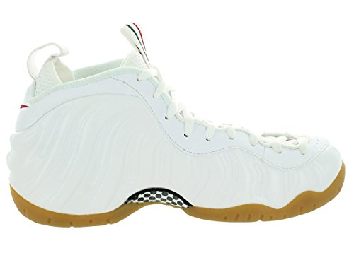 Nike Air Foamposite Pro, Chaussures de Sport-Basketball Homme, 41,5 EU Blanc / Rouge / Vert (White / White-Gym Red-Grg Green)