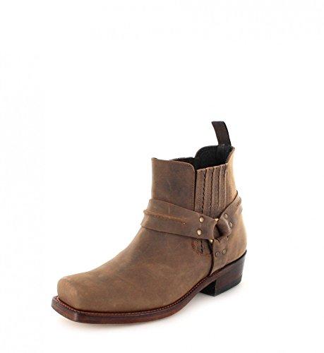 0ed5179594e5 Mayura Boots Unisex - Adult MB004 Biker Boots Brown Sadale Size  43