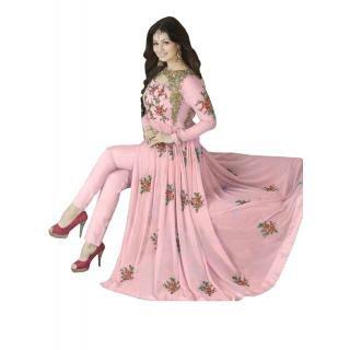 Clothfab Women's Indian Stylish Anarkali Dresses Suits Semi-Stitched for Girls - Long Anarkali Dresses Kurtis for Women for Wedding Parties Events - Anarkali Salwar Suit Dress Material