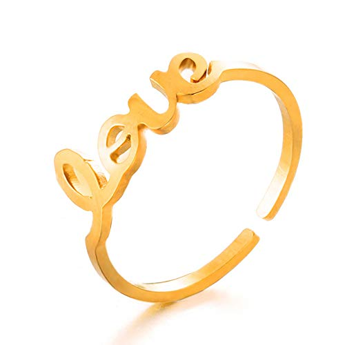158730444d62 24 JOYAS Anillo Ajustable Love. Joya Ideal para Regalo romántico (Yellow)