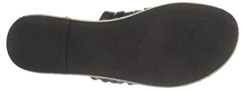 PIECES Psjackie Leather Sandal Damen Pantoletten Schwarz (Black)
