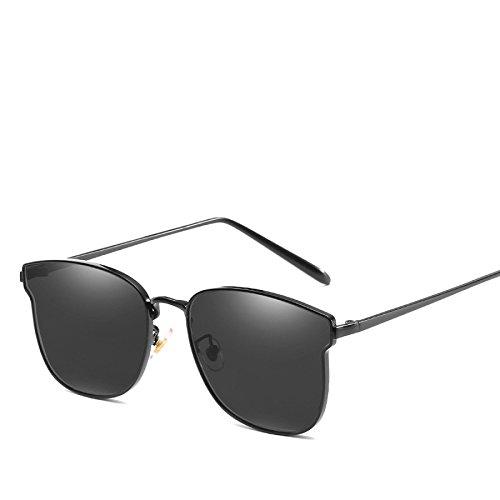 Dame Mode Straßenfotografie Sonnenbrille Trend Persönlichkeit Sonnenbrille Big Box Metall Reise Strand Sonnencreme Fahren Visier,NO5