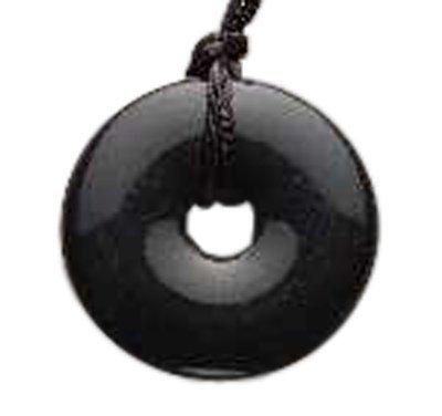 Anhänger, Onyx, Donut, erleichtert das Zahnen