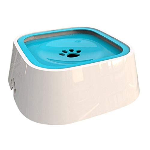 LOFAMI Fressnäpfe Haustier-Hundekatze-Schüssel-Schwimmen, das Nicht Mund-Haustier-Schüssel-kein Überlauf-Trinkwasser-Zufuhr-Plastikbewegliche Hundekatze-Haustier-Schüssel 1.5L benetzt Hunde Näpfe