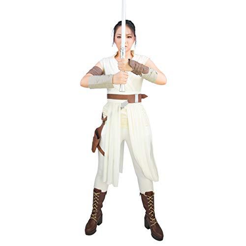 BIRDEU Rey Kostüm SW 9 The Rise of Skywalker Cosplay Outfit mit Gürtel Zubehör für Damen Kleidung - Rey Skywalker Kostüm