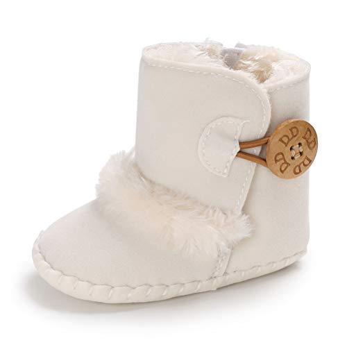 Botas de Bebés Unisexo Zapatos Primeros Pasos Invierno Soft Sole Botas Suaves de Nieve de Suela 0-18...