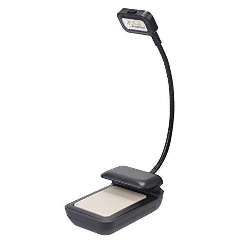 LEADSTAR Portable LED Lampe de Lecture, 3 LED Lampe de Bureau pour Amazon Kindle, Nook, Kobo, Tablettes, Livres et Téléphones