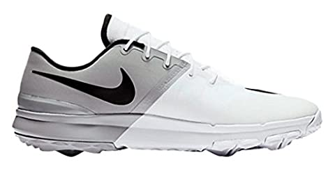 Nike Fi Flex, Chaussures de Golf Homme, Blanc (White/Black/Anthracite/Wolf Grey), 40 EU