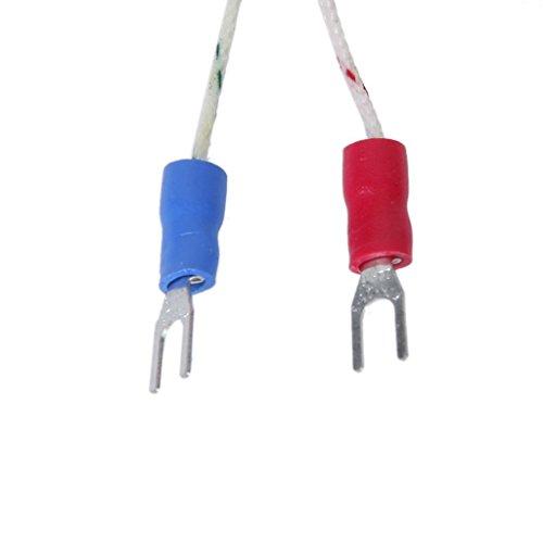 Thermocouple Type K Spade 100mm Régulateur Température Capteur -100°C à 1250°C Sensor Probe 1M